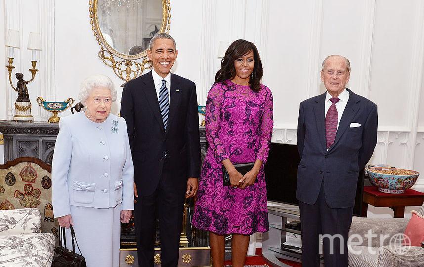 Принц Филипп, Елизавета II, Барак и Мишель Обама. Фото Getty