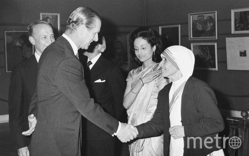 Принц Филипп и мать Тереза. Фото Getty