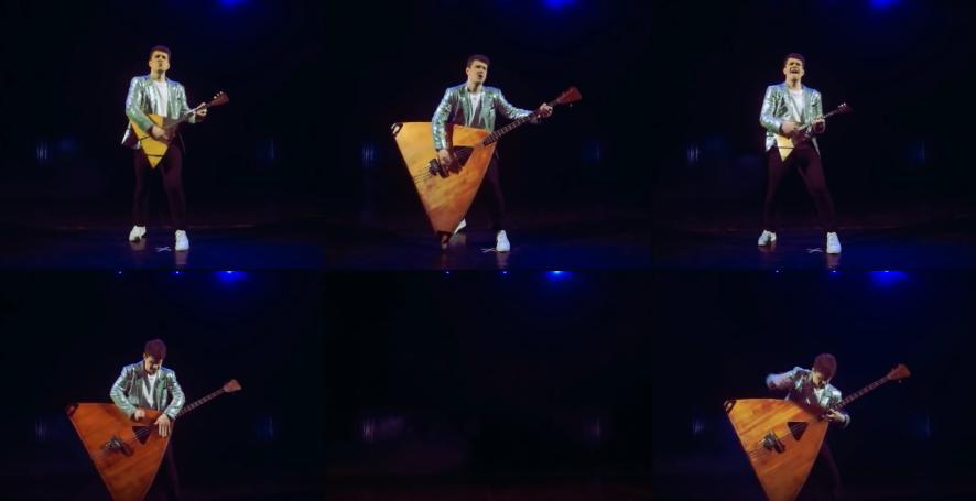 Кадр из видео исполнения песни Show Must Go on на балалайках. Фото скриншот: youtube.com/watch?v=6jCza_S5VUQ