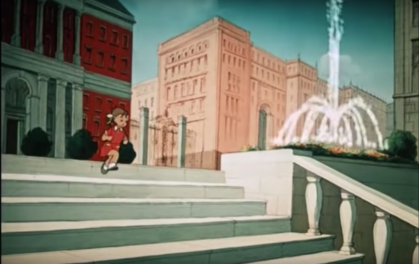 """Кадр из мультфильма """"Цветик-семицветик""""."""