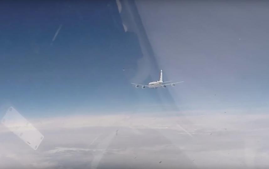 Один из самолётов-разведчиков НАТО. Фото Скриншот/ Минобороны России, Скриншот Youtube