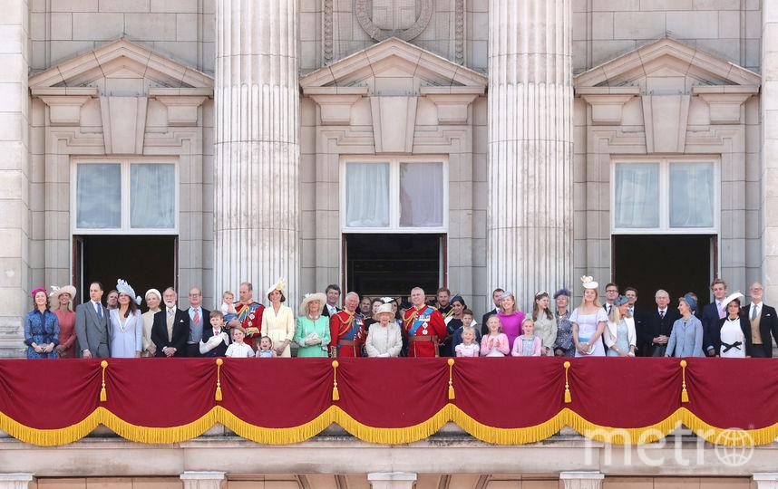 Британская королевская семья на параде Trooping The Colour. Фото Getty