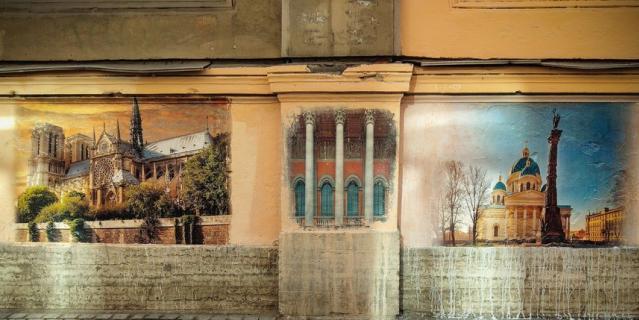 Переулок Радищева стал арт-галереей под открытым небом.