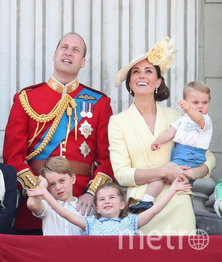 Принц Уильям с семьей на параде в честь королевы, 2019. Фото Getty