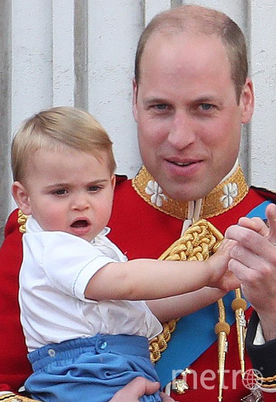 Принц Уильям с сыном принцем Луи на параде в честь королевы, 2019. Фото Getty