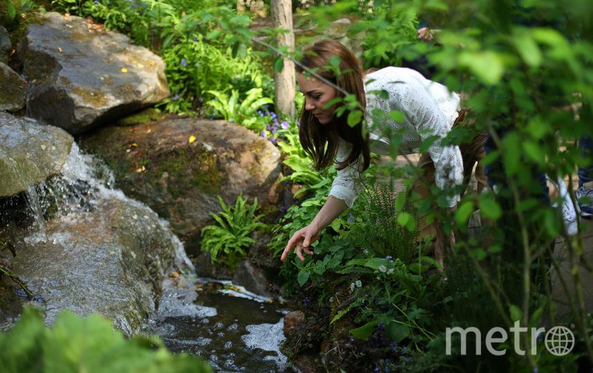 Кейт Миддлтон в саду сразу после открытия в мае 2019-го года. Фото Getty