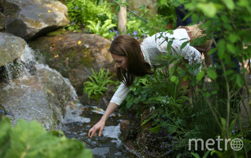 Кейт Миддлтон в саду сразу после его открытия 20 мая 2019 года. Фото Getty