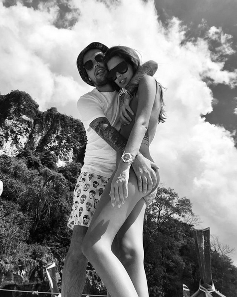 Гуф и Кети. Фото скриншот: instagram.com/therealguf/
