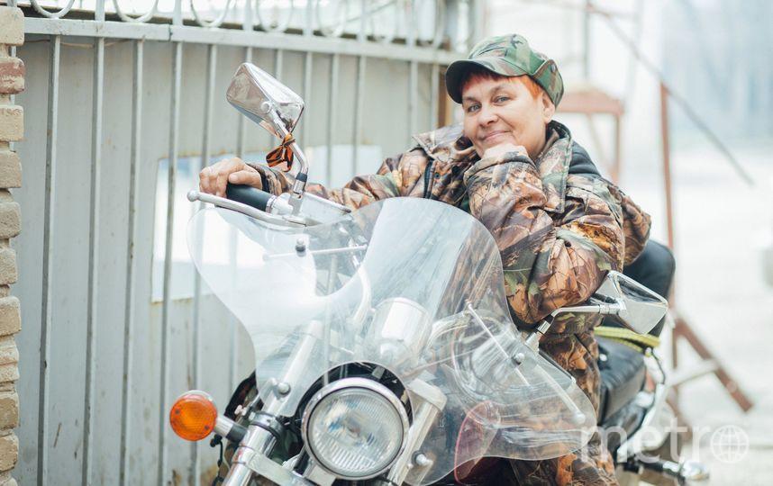 Севастьяна Самородок и её Honda Steed 400. Фото Ольга Русинова