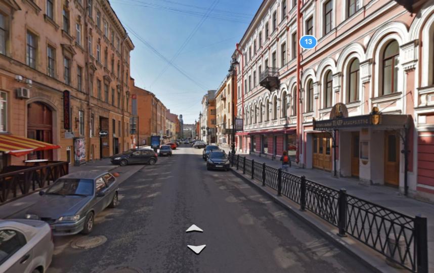 StandUp-фестиваль на Рубинштейна закончился дракой. Фото скриншот Яндекс.карты