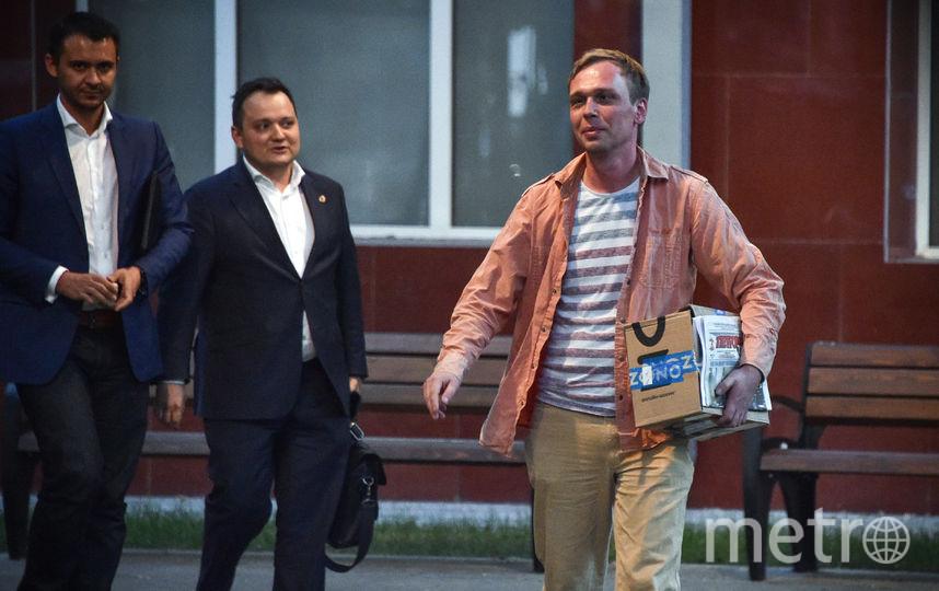 Иван Голунов после освобождения из-под домашнего ареста (архивное фото). Фото AFP