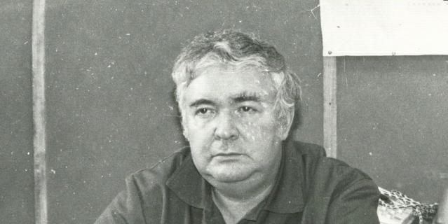 Александр Боровой в лаборатории. Чернобыль, 1991-й год.