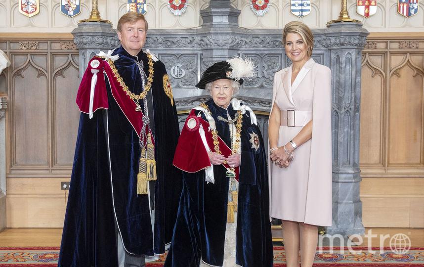 Король Нидерландов Виллем-Александр, Елизавета II и королева-консорт Нидерландов Максима. Фото Getty