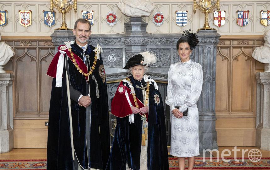 Король Испании Филипп VI, Елизавета II и королева-консорт Испании Летиция. Фото Getty