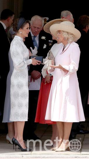 Испанская королева Летиция и Камилла. Фото Getty