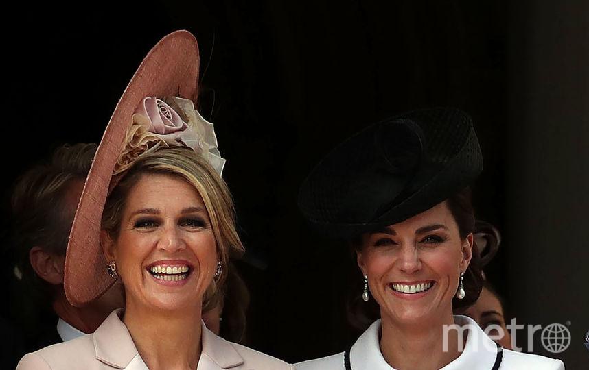 Королева Нидерландов Максима и Кейт Миддлтон. Фото Getty