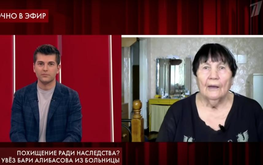 Родная сестра Бари Алибасова Зоя Воробьёва. Фото Скриншот/Пусть говорят, Скриншот Youtube