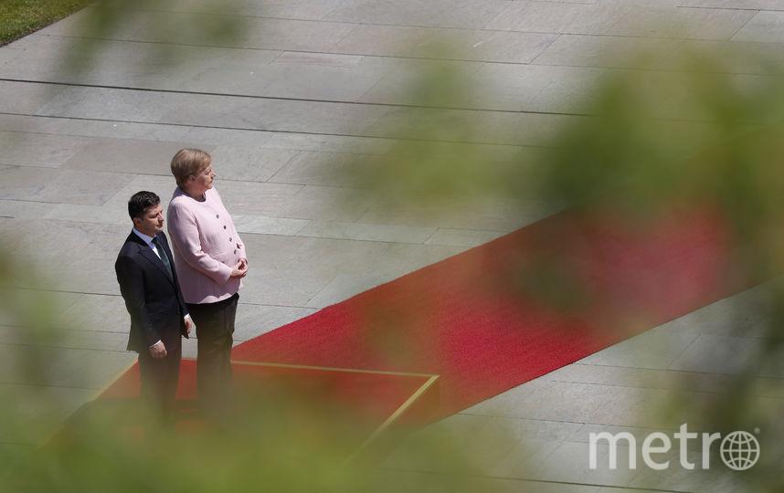В Германии 18 июня проходит встреча канцлера Германи и президента Украины. Фото AFP