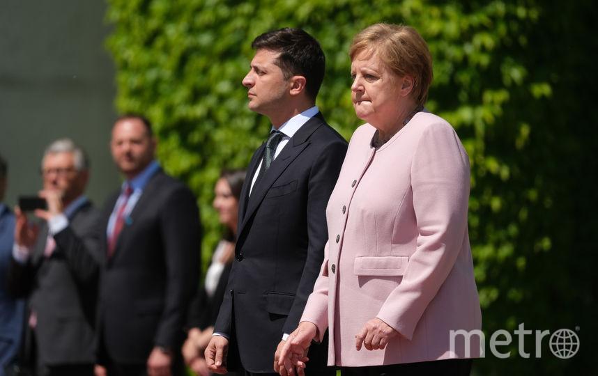 Встреча Ангелы Меркель с Владимиром Зеленским. Фото Getty