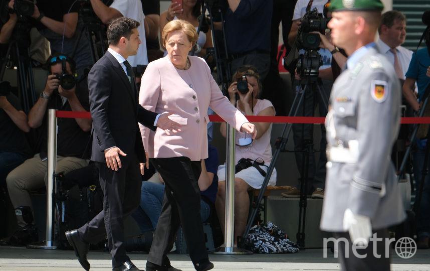 Ангела Меркель и Владимир Зеленский. Фото Getty