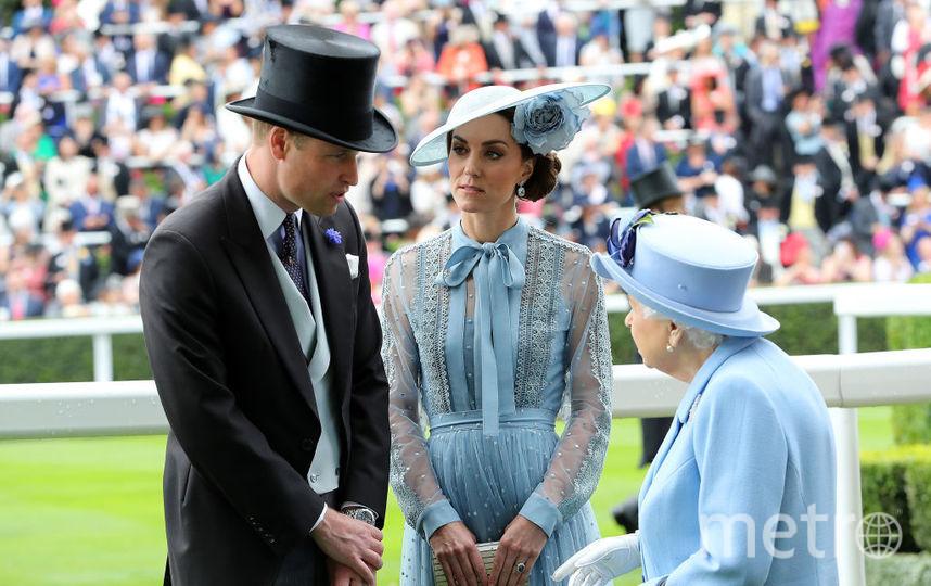 Принц Уильям, Кейт Миддлтон и Елизавета II. Фото Getty