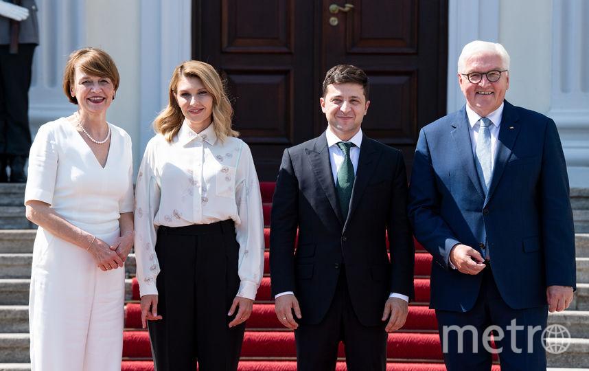 Елена Зеленская (вторая слева) на официальных мероприятиях в Германии. Фото скриншот с официального блога Елены Зеленской в Instagram