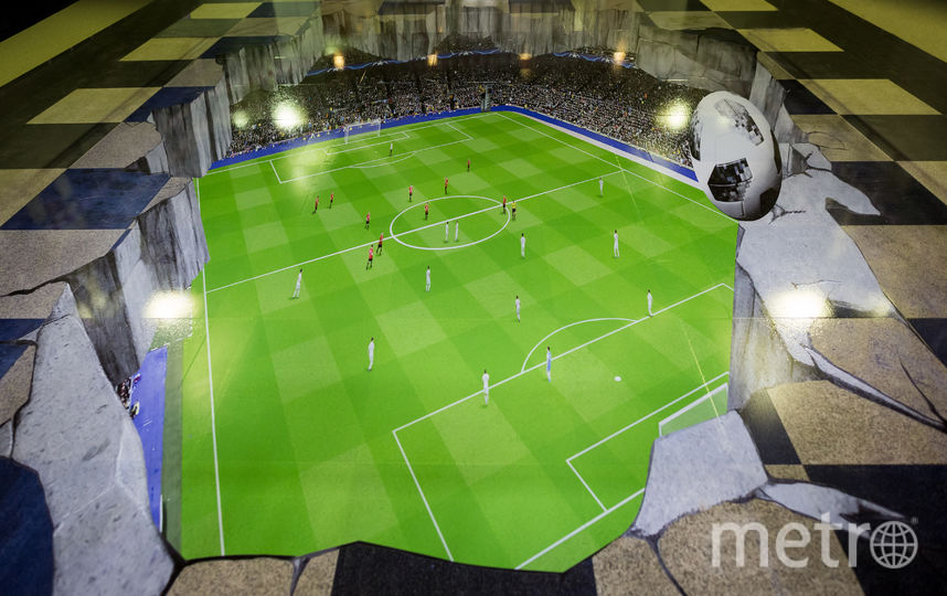 """3D-изображение футбольного поля. Фото предоставлено метрополитеном, """"Metro"""""""