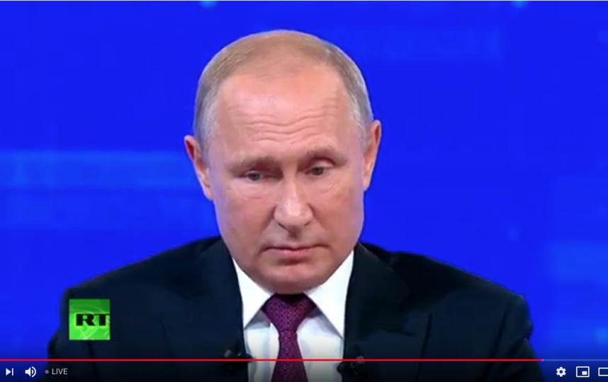 "Владимир Путин на ""Прямой линии"" 20 июня. Фото скриншот Youtube, ""Metro"""