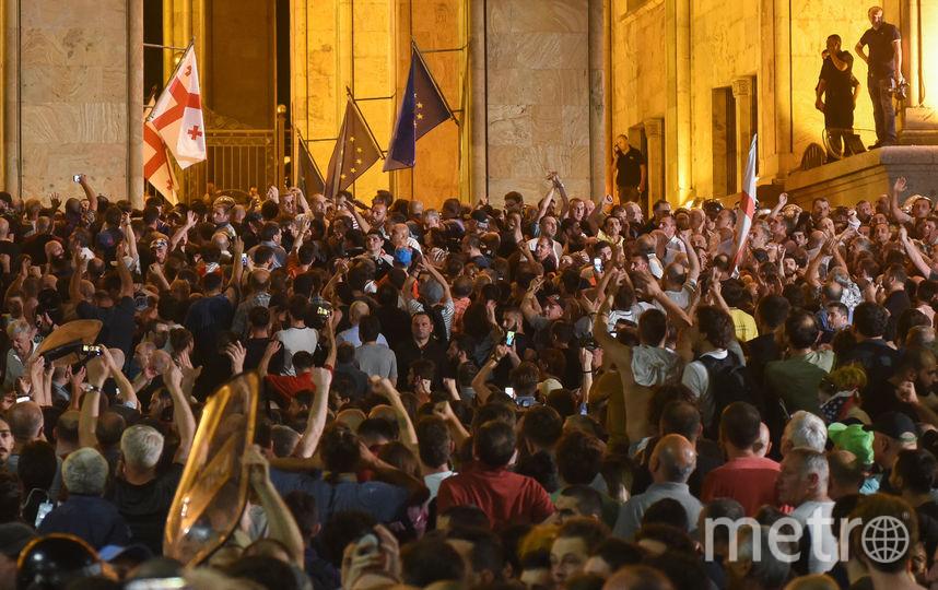 В Тбилиси беспорядки. Фото AFP