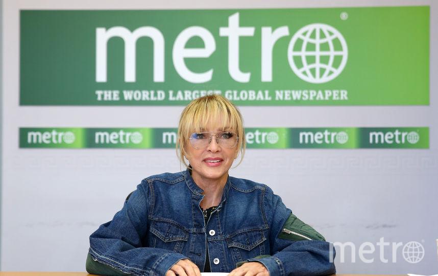 Лайма Вайкуле в редакции Metro. Фото Василий Кузьмичёнок