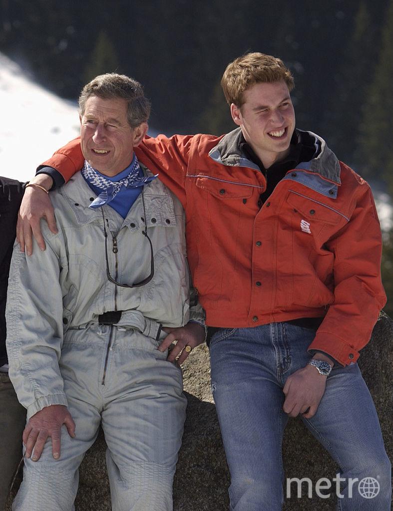 Принц Уильям с отцом. 2002 год. Фото Getty