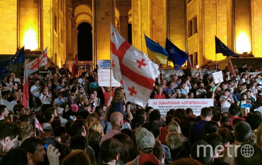 Демонстрации в Тбилиси. Фото AFP