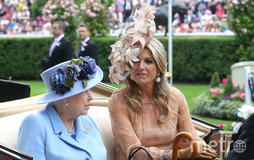 Елизавета II и королева Максима в первый день скачек. Фото Getty