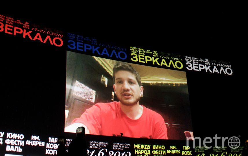Кантемир Балагов по видеосвязи благодарит за награду. Фото Предоставлено организаторами