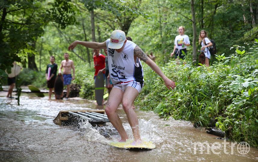 На днях на реке Чертановке прошла тренировка скимбордеров. Фото Василий Кузьмичёнок