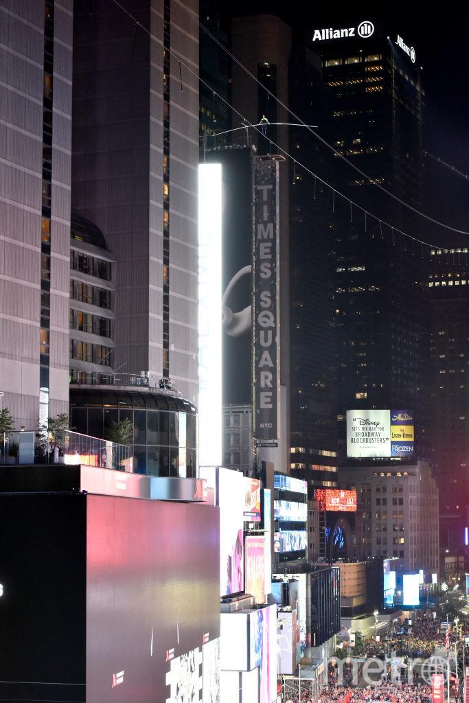 Трюк над площадью был непростым. Фото Getty