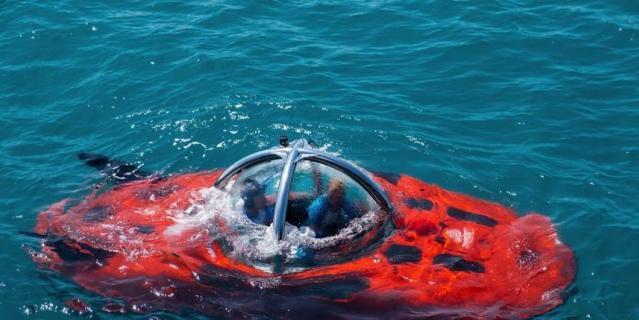 Обитаемый подводный аппарат внешне похож на томат.