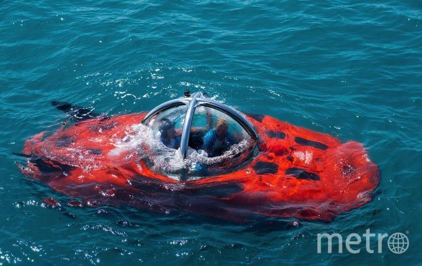 """Обитаемый подводный аппарат внешне похож на томат. Фото Алена Бобрович, """"Metro"""""""