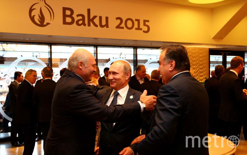 Владимир Путин и Александр Лукашенко на открытии Европейских игр — 2015 в Баку. Фото Getty