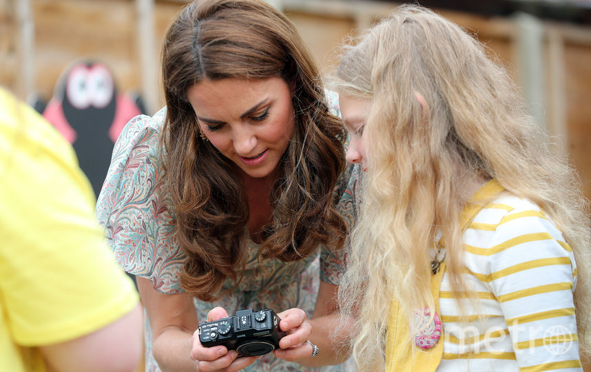 Кейт Миддлтон провела мастер-класс для школьников. Фото Getty