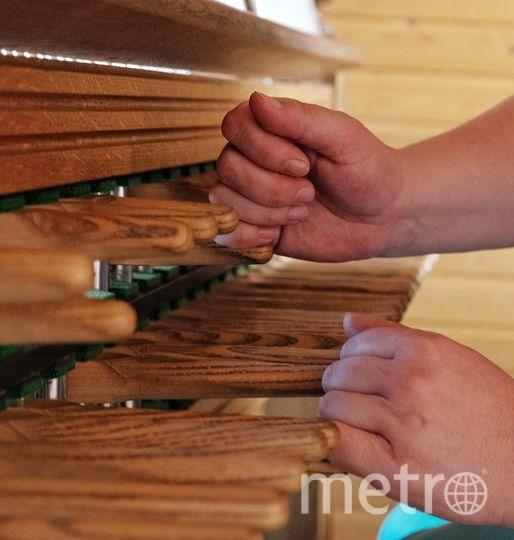 """Карильонисты играют четырьмя «пальцами»: кулаками и ногами. Фото Алена Бобрович, """"Metro"""""""