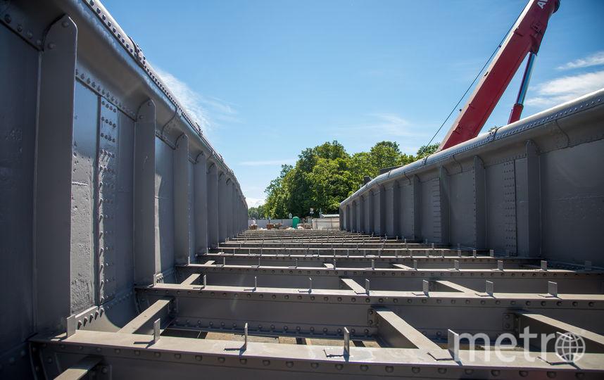Доковый мост Кронштадта вернулся на место после реставрации. Фото gov.spb.ru