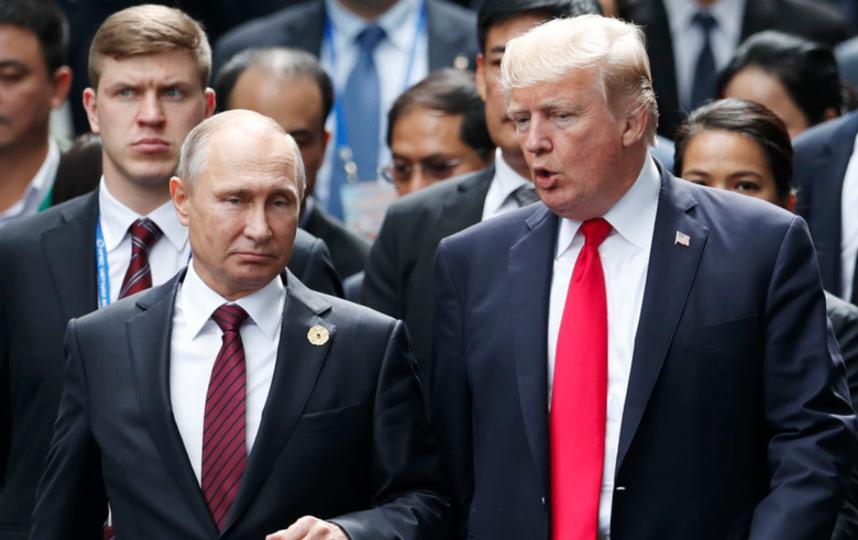 Путин и Трамп уже общались в рамках международных встреч на высшем уровне. Фото архив, Getty