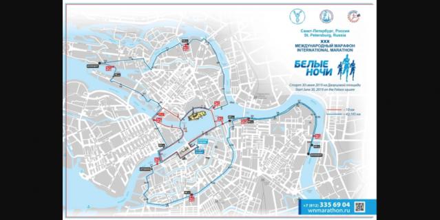 Карта марафона.