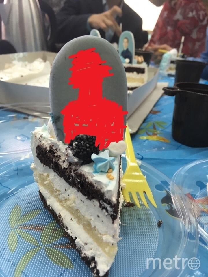 Кусок торта. Фото предоставил один из учеников