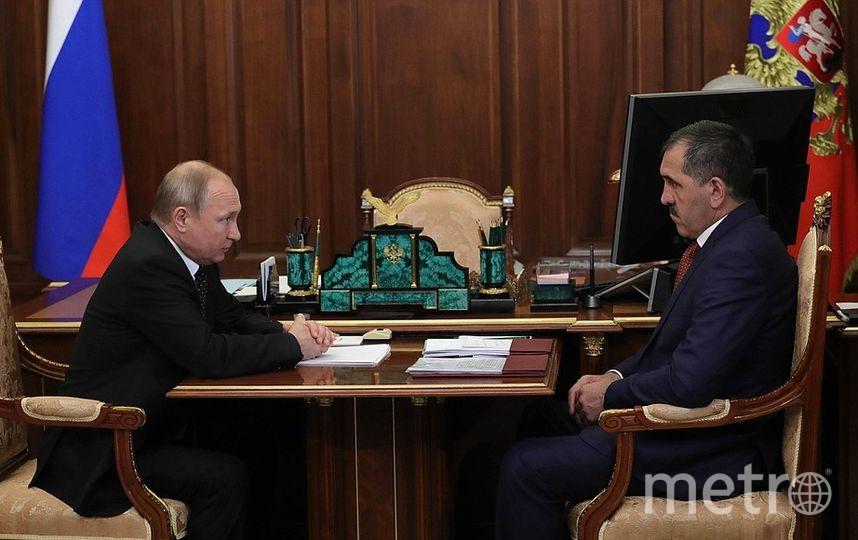 Владимир Путин и Юнус-Бек Евкуров. Фото kremlin.ru