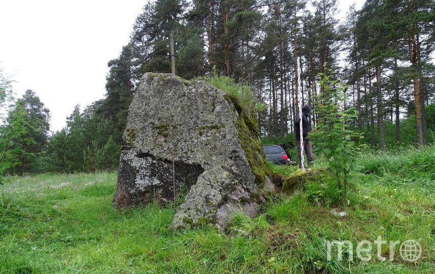 """Место под большим камнем, где было найдено погребение. Фото Станислава Бельского, """"Metro"""""""