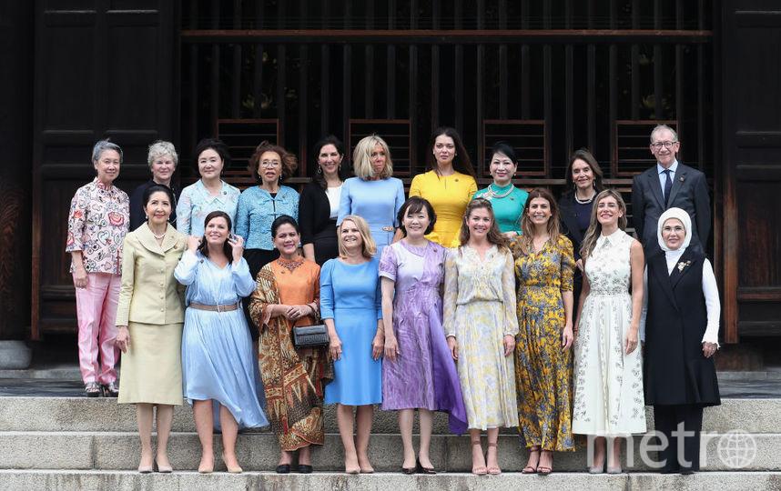Семейное фото жен президентов и премьеров, прибывших на G20. Фото Getty