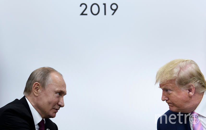 Владимир Путин и Дональд Трамп на саммите G20 в японской Осаке. Фото AFP