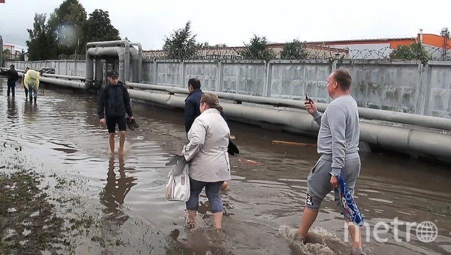 """Последствия подтопления возле аэропорта Шереметьево. Фото агентство """"Москва""""."""